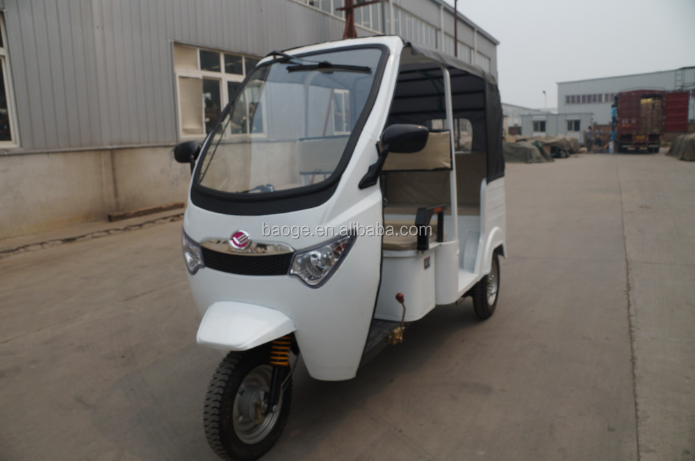 Electric battery powered auto tricycle rickshaw, passenger tricycle e rickshaw