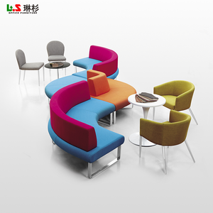 foshan fabric modern design curved office sofa