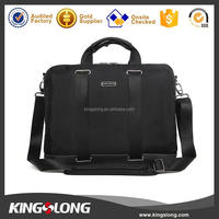 Kingslong fashion laptop bag computer bag notebook case 1680D black with trolley strap