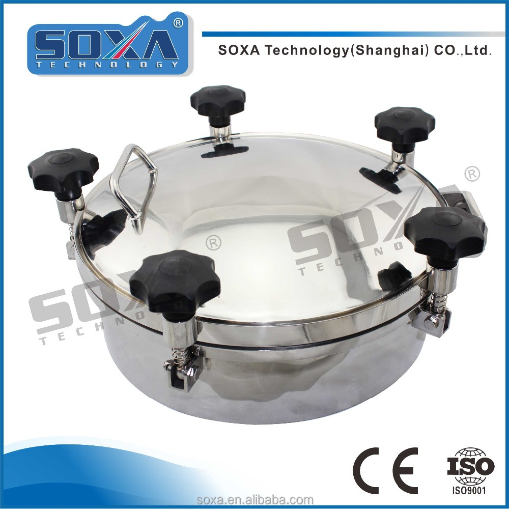 Food grade tank stainless steel pressure circular manhole cover