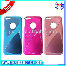 Chorme aluminum case for apple iphone 5c ,for iphone 5c brushed metal case