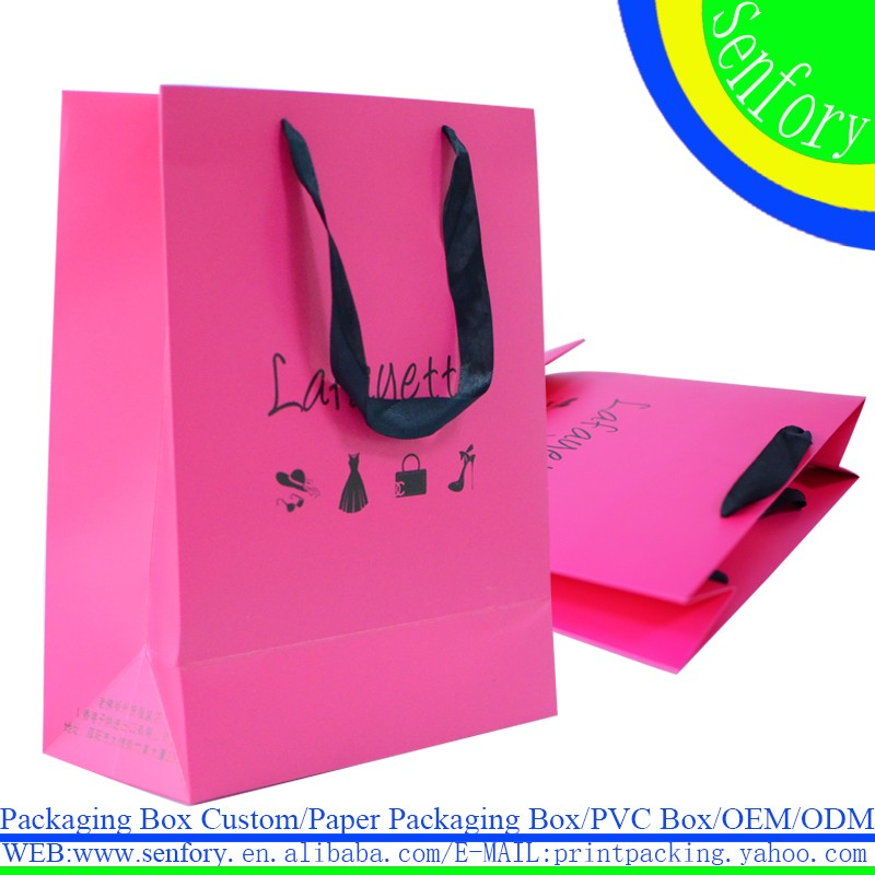 Customized Clothes Shopping Paper Bag Logo Cstom Paper Bag Gift Bag