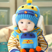 Transformers baby wool hat earmuffs knitted beanie hat scarf wholesale