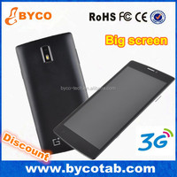 very cheap big screen android phone 3G 1900 transparent screen mobile phone