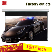 Guangzhou Factory Electric Matte Grey 4:3 100 inch Wall & Ceiling Mounted electric floor projector screen