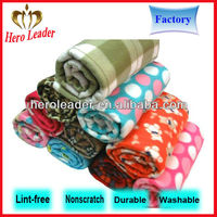 Various weight anti-static striped polar fleece fabric