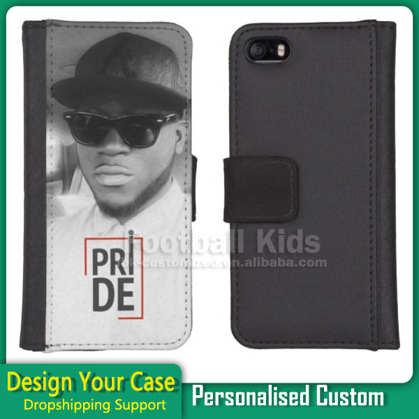2017 newest product hard case mobile phone leather flip case for iphone 5 5s with Card Slot