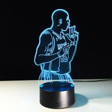 NBA Basketball Star Kobe Colorful 3D LED Lamp Creative Acrylic Night Lights USB Decorative Desk Lamp as Gift for Boyfriend Kids