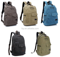 Canvas mens rucksack leisure backpack fashion vintage backpack