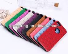 ostrich skin leather case cover for iphone 5G 5S