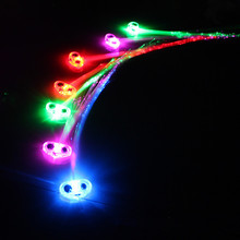 New style plastic optical fiber led flash hair extension for party / disco / night Club