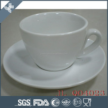 Custom AB grade ceramic coffee cup set , fancy coffee cups and saucer