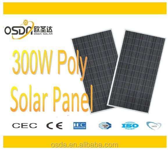 Solar Pv Module 300w Panel with high quality and CE