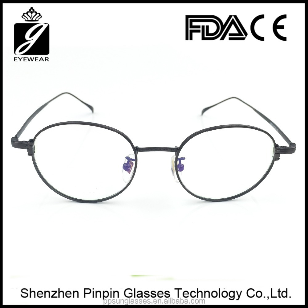 2016 updated design titanium optical frame wholesale vintage spectacle frame in Shenzhen