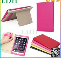 new comming rose gold color case for ipad mini 4 smart leather stand cover