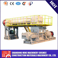Full automatic clay brick production line processing with make brick machine
