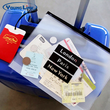 Custom logo PVC EVA travel bag clear pvc pouch with zipper in China