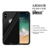 2017 Allow Wireless Charging tempered Glass Armor Case Shockproof Mobile Phone Back Covers for iPhone X 10