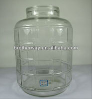 5 gallons glass jar,glass honey jar with handle and plastic lid