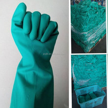 YJ-001 Green nitrile gloves with cuff <strong>safety</strong> working gloves