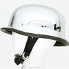 chrome helmet sliver white color motorcycle half face helmet with cushion match with goggle