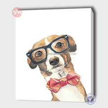 modern animal dog with a pair of glasses fine art -MHF14121408-