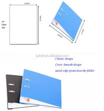PVC ring binder Type and Metal Material 2 hole D shape ring binder file folder