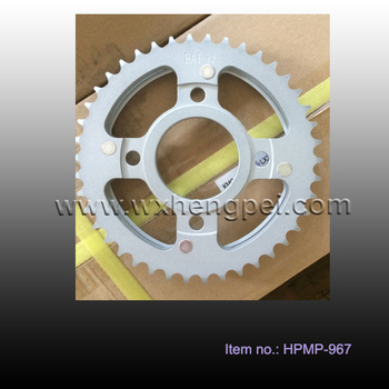 HN125-8 sprocket 42T, motorcycle sprocket , motorcycle part, motorcycle accessories