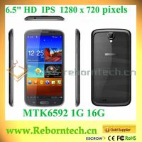 U692 MT6592-1.7 GHz Octa-core 6.5inch HD IPS android mobile phone alibaba in russian