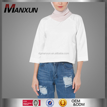 Latest fashion muslim women top wholesale cheap casual blouse in malaysia