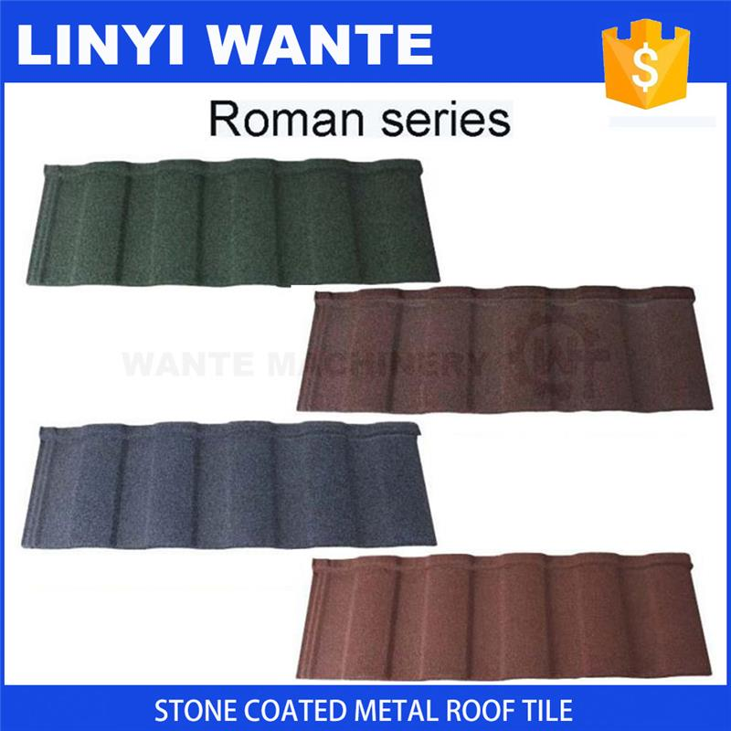 Worldwide popular waterproof stone coated metal roofing tiles