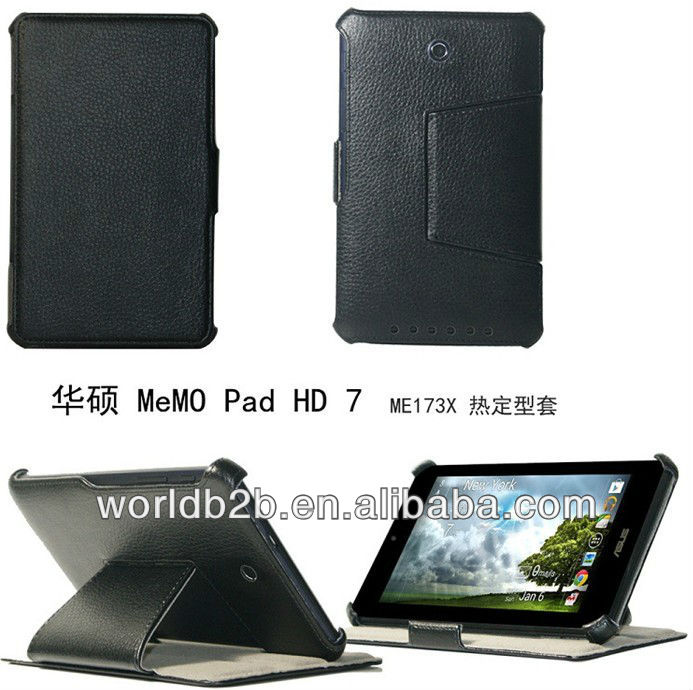 cover for asus memo pad HD 7, Folio Leather Case Cover microfiber interior or Elastic band