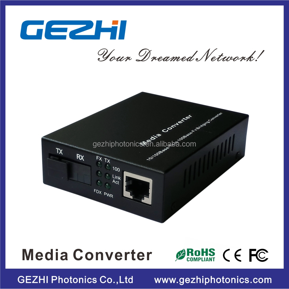 100KM WDM 10/100M single mode dual fiber media converter,Supporting STP to form a redundant network