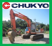 Japanese Used Excavator Hitachi EX 100 - 1 <SOLD OUT>/ Rubber pad on steel shoe , Isuzu Engine