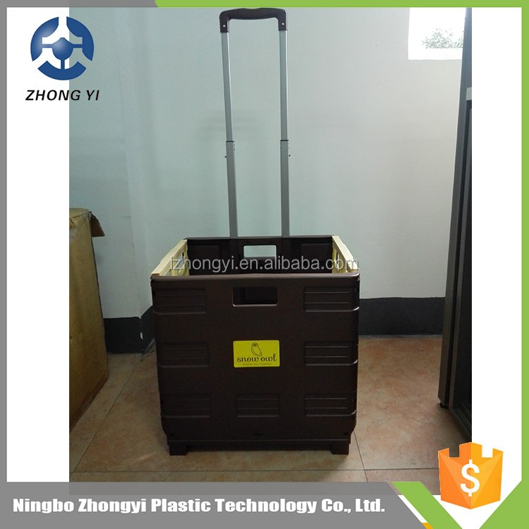 Hot sale tool trolley , folding box trolley on wheels , wholesale folding trolley