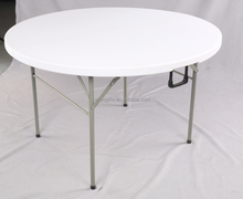 4ft round fold in half table