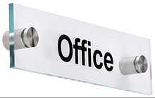 2015 Hanging Office Signs, Acrylic Hotel Room Door Signs, Modern Design Office Building