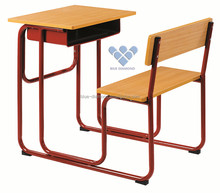 Cheap school furniture classroom student single desk and chair furniture