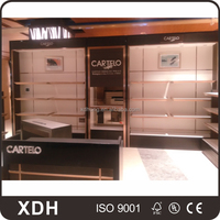 High quality wooden shoe display cabinet for shoes store