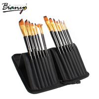 OEM 15 pcs art supply artist oil nylon paint brush set, art paint brush set