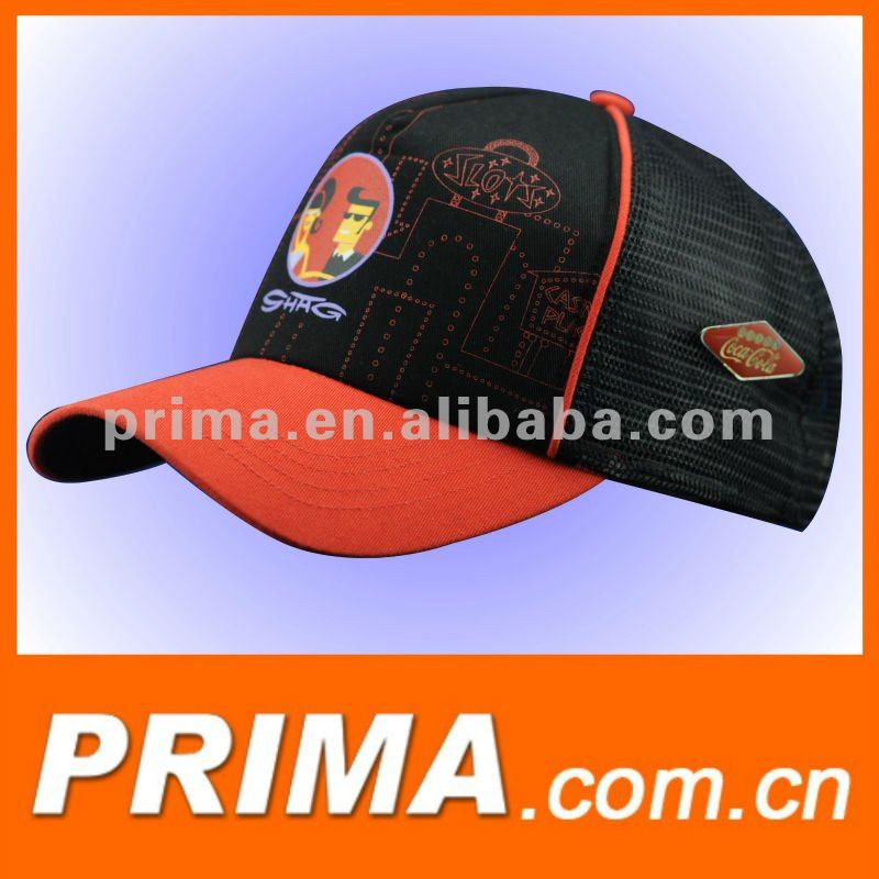 2017 new design custom 5 panels woven patch mesh back panel sports caps and hats