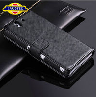New Hot Sell Luxury Genuine Real Wallet Leather Flip Case For Sony Xperia Z L36H