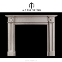 hand carved natural marble fireplace surrounds
