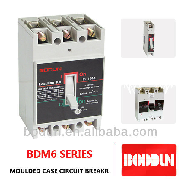 BDM6 DS 3P 100A MOUDLED CASE CIRCUIT BREAKER