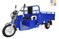 2016 hot 200cc water cool three wheel dumper motorized cargo tricycle with cabin