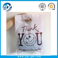 """Thank You"" Pattern Plastic Gift Bag Shopping Bags With Handle Plastic Clothing Packaging Bag"