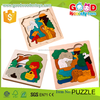 2016 Hot Sale Product Kids Intelligent Wooden 3d Puzzle OEM/ODM Educational Game Toy Jigsaw Puzzle for Children