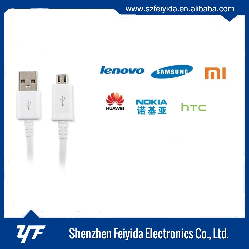 CE RoHS FCC MFI certified high speed data charging android micro 2.0 usb cable