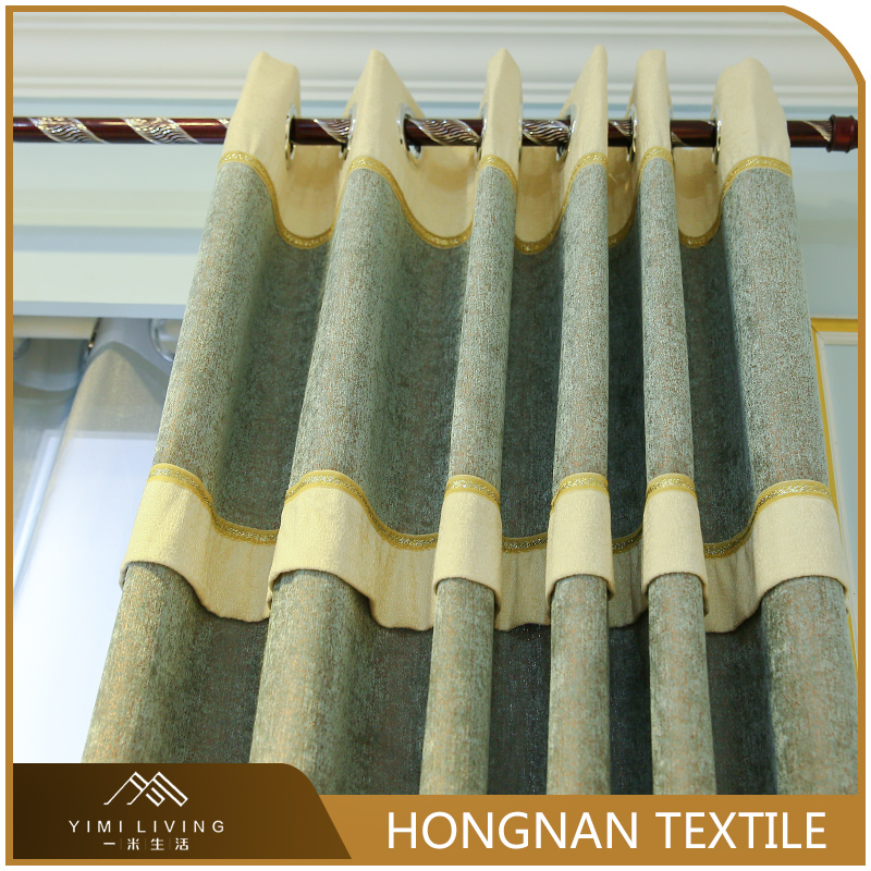 Luxury new design woven blackout embroidery popular window curtains