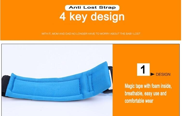 Kids Safety Wristband Wrist Link Anti Lost Belt Adjustable Baby Outdoor